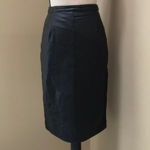 Vintage The Olde Hide House Acton Leather Skirt